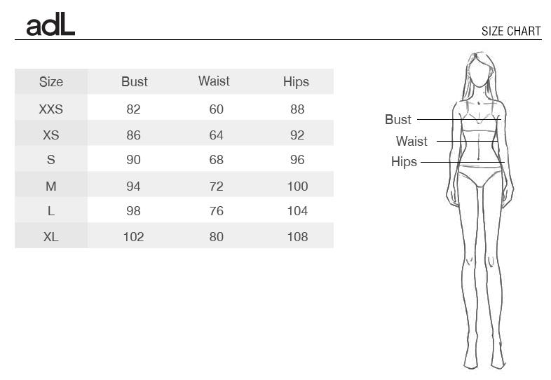 جدول سایزبندی adL